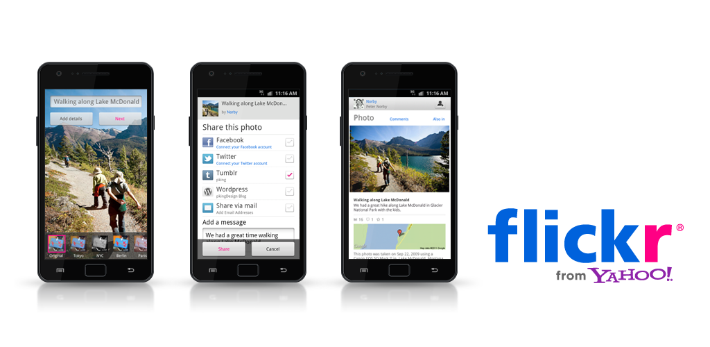 Flickr lance son application pour Android